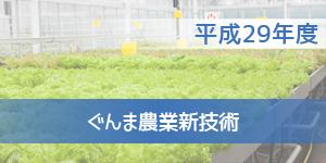 平成29年度 ぐんま農業新技術