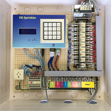 EBスプリンクラー             (制御盤ケースの標準仕様配置)